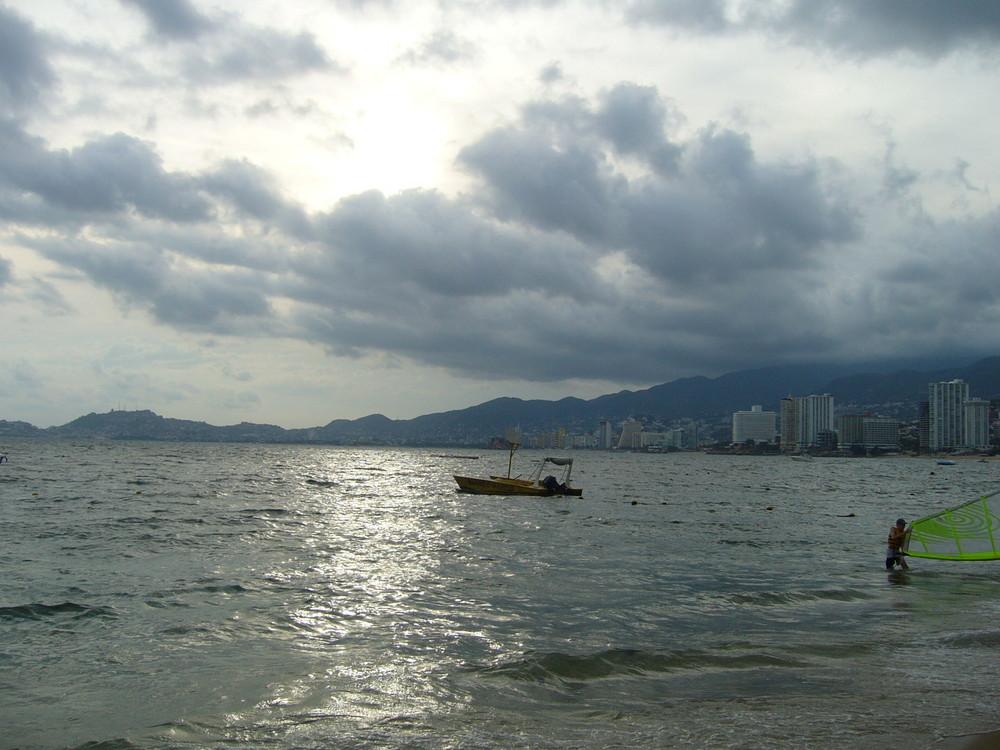 velero in the sea