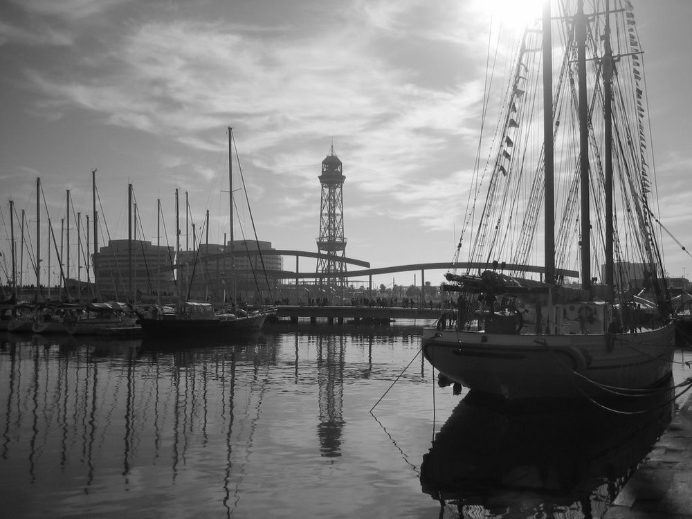 Veleros del puerto de Barcelona