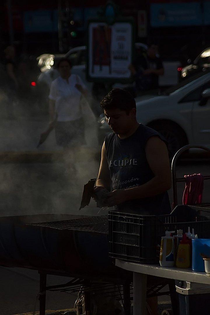 vendedor de hamburgesa