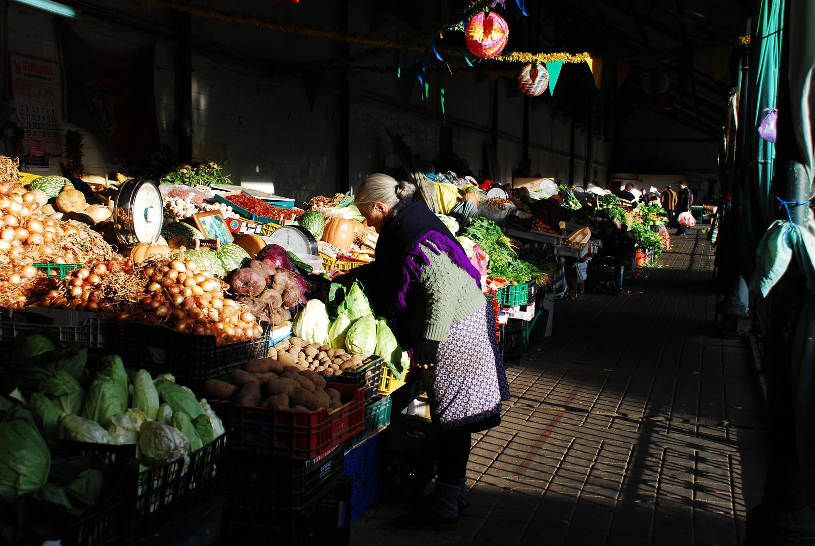 ...vendedora de legumes...