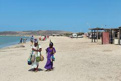 Vendedoras en la playa