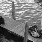 Venecia en blanco y negro, el descanso