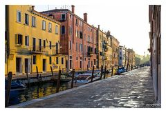 Venedig  Abends nach dem Regen