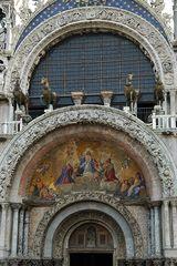 Venedig . Portal des Markusdoms