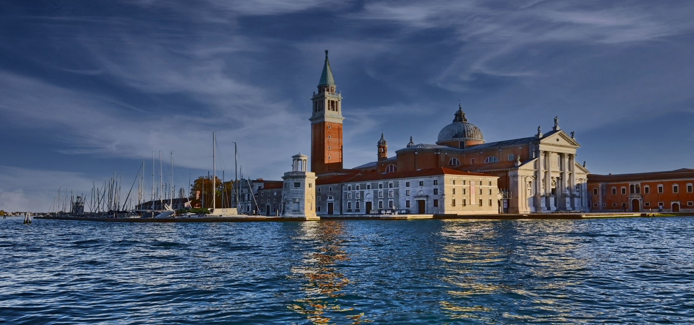 Venedig - Prachtbauten zur blauen Stunde -