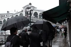 Venedig - Regen - 2 Grad