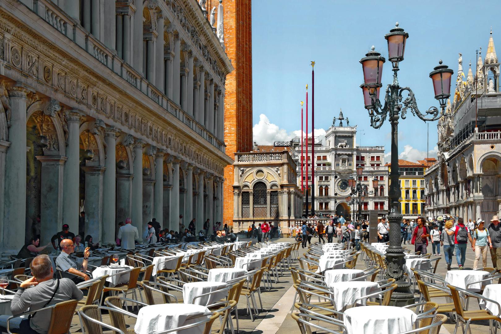Venedig: Spritz Aperitif auf dem Markusplatz