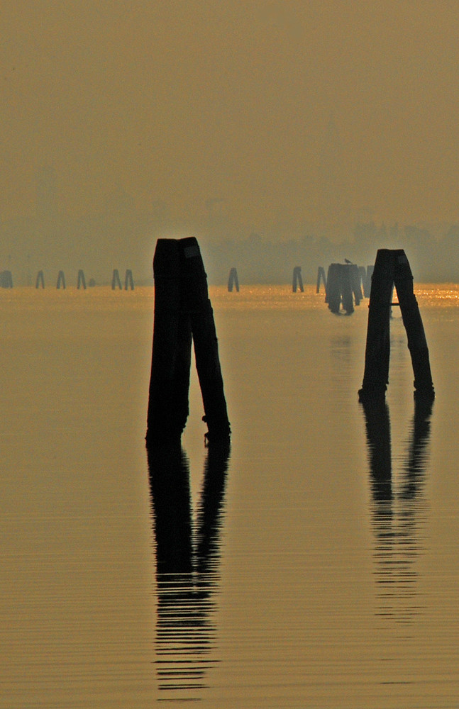Venezia : Inverno alba da S.Giuliano