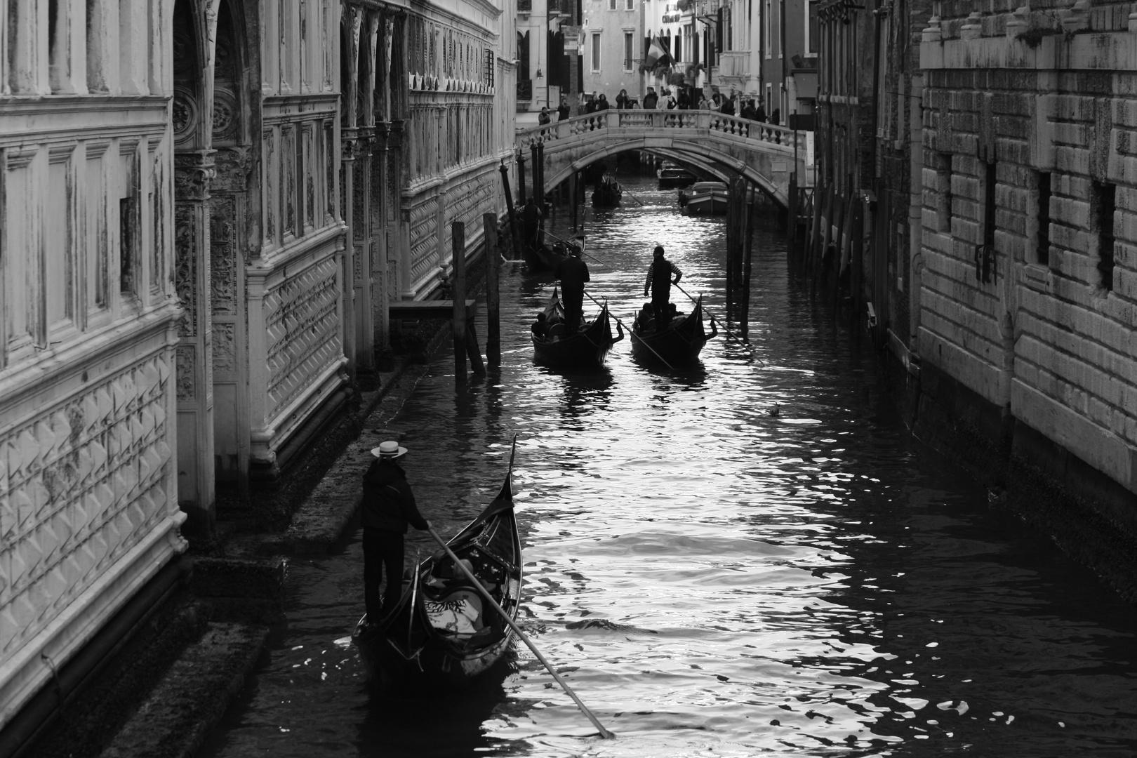 Venice boats near San Marco square