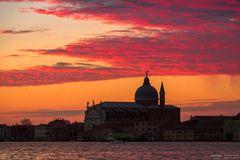 Venice burning sky