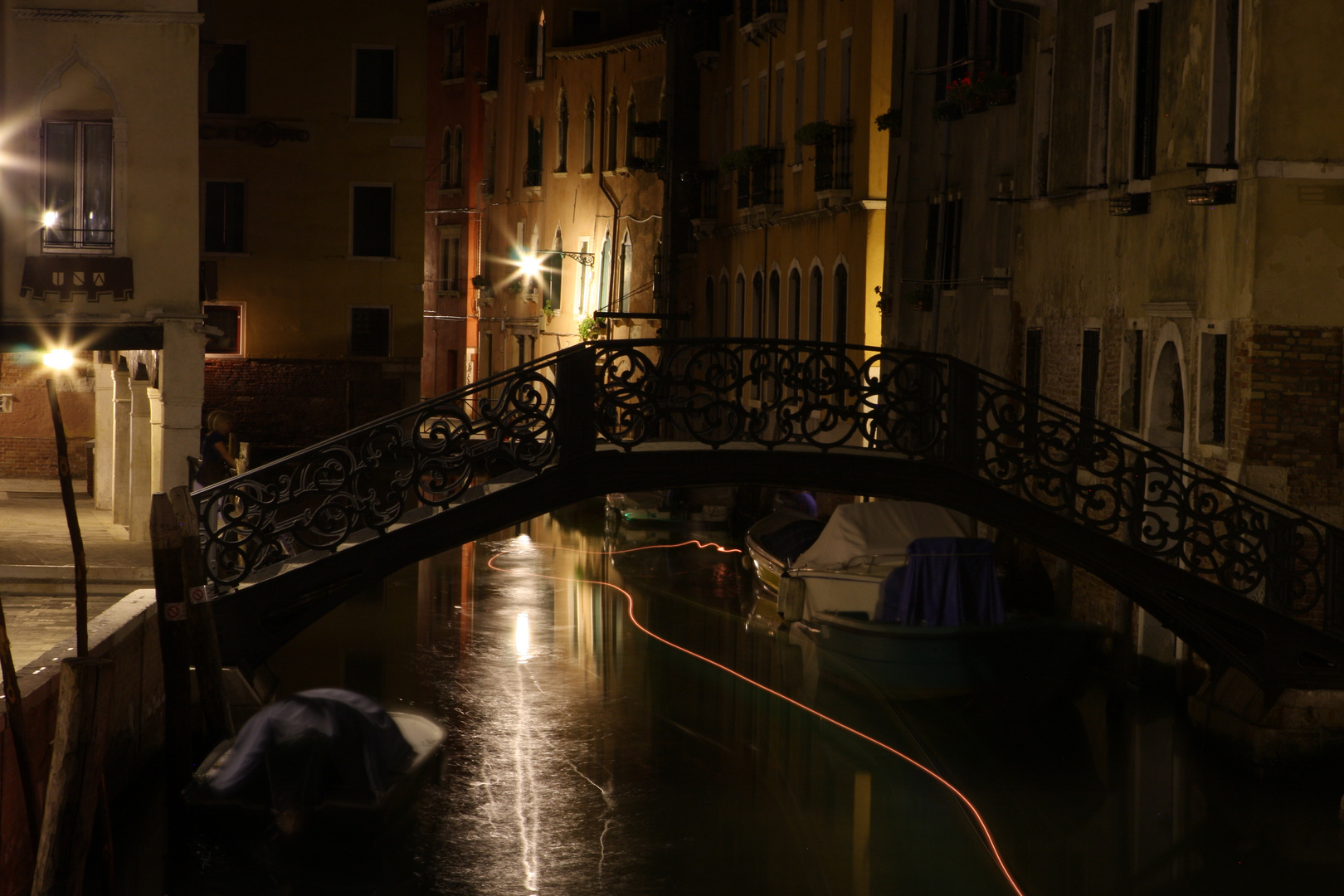 Venice canal in the night 2.
