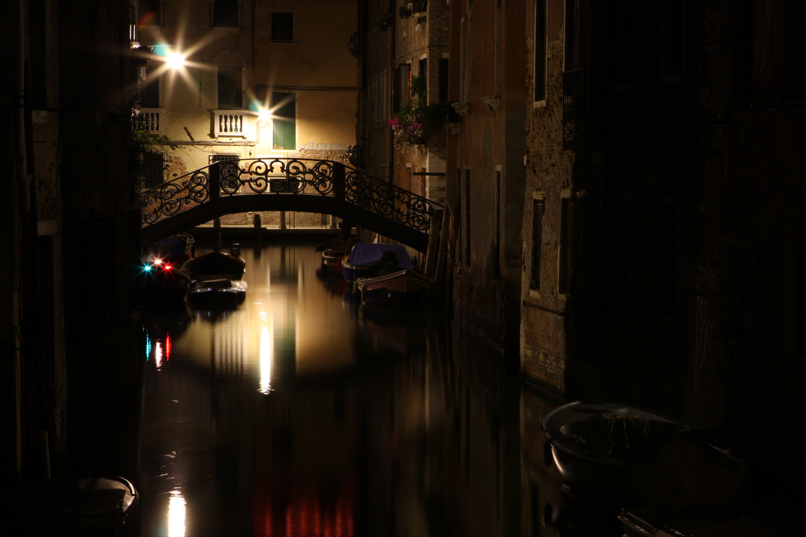 Venice canal in the night