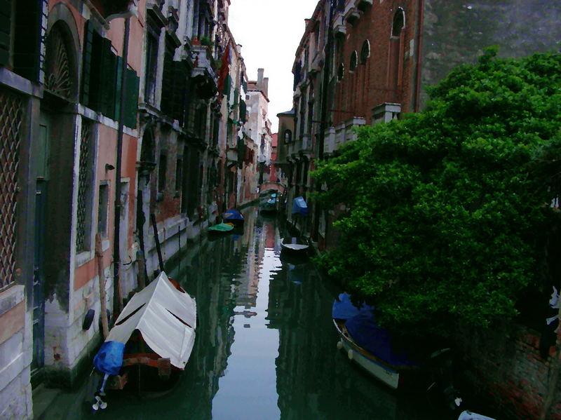 Venice street (water-colour)