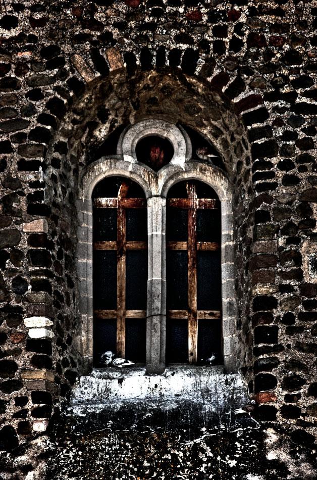 Ventana en la iglesia de Jecapixtla