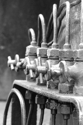 Ventile einer alten Dampflok