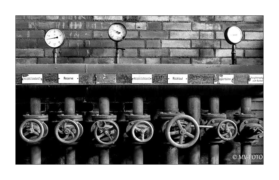 Ventilreihe - Zeche Zollverein