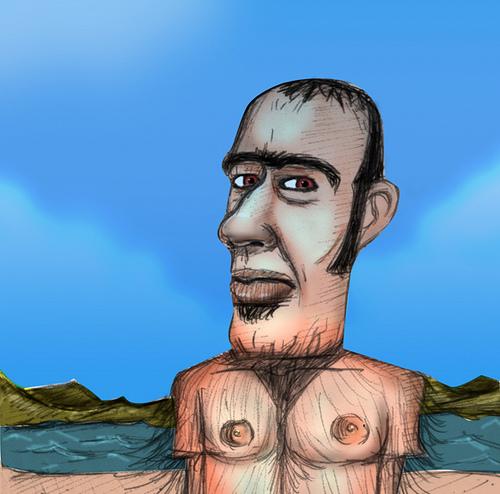 Vento do mar balança testosterona - Claudio Doggy - Santa Felicidade-Curitiba-pr -photoshop - dibujo