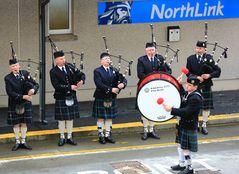 Verabschiedung mit schottischer Musik