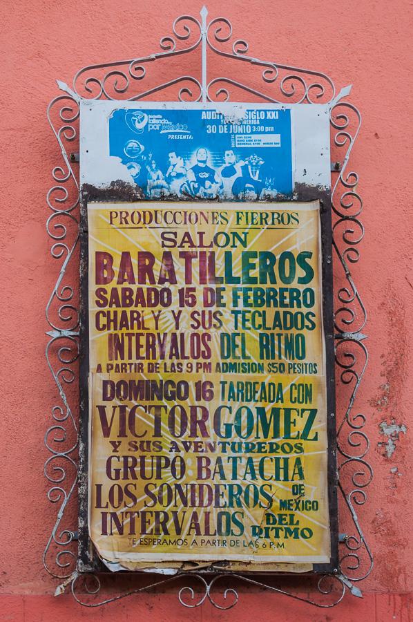 Veranstaltungshinweise auf mexikanisch