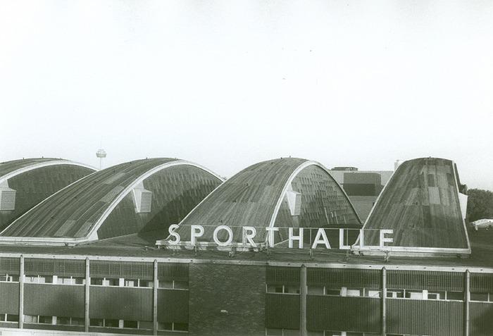 verblassende Erinnerung an die Sporthalle Köln