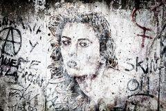 verblasstes Graffiti