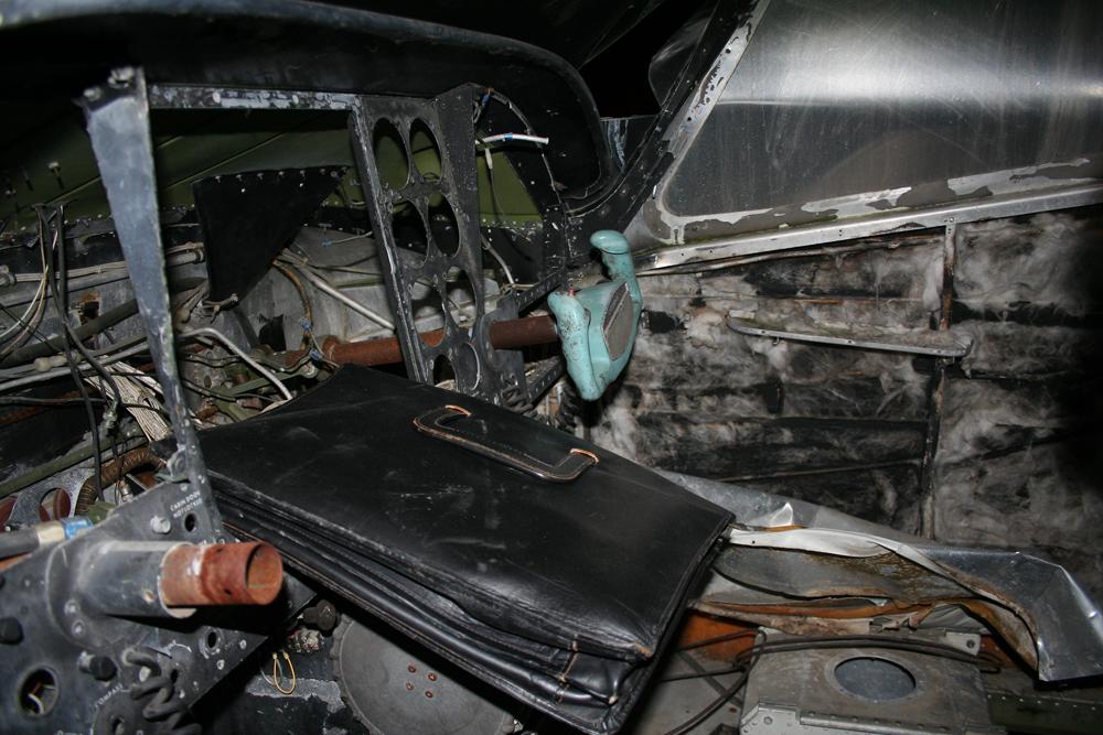 Verbranntes Cockpit