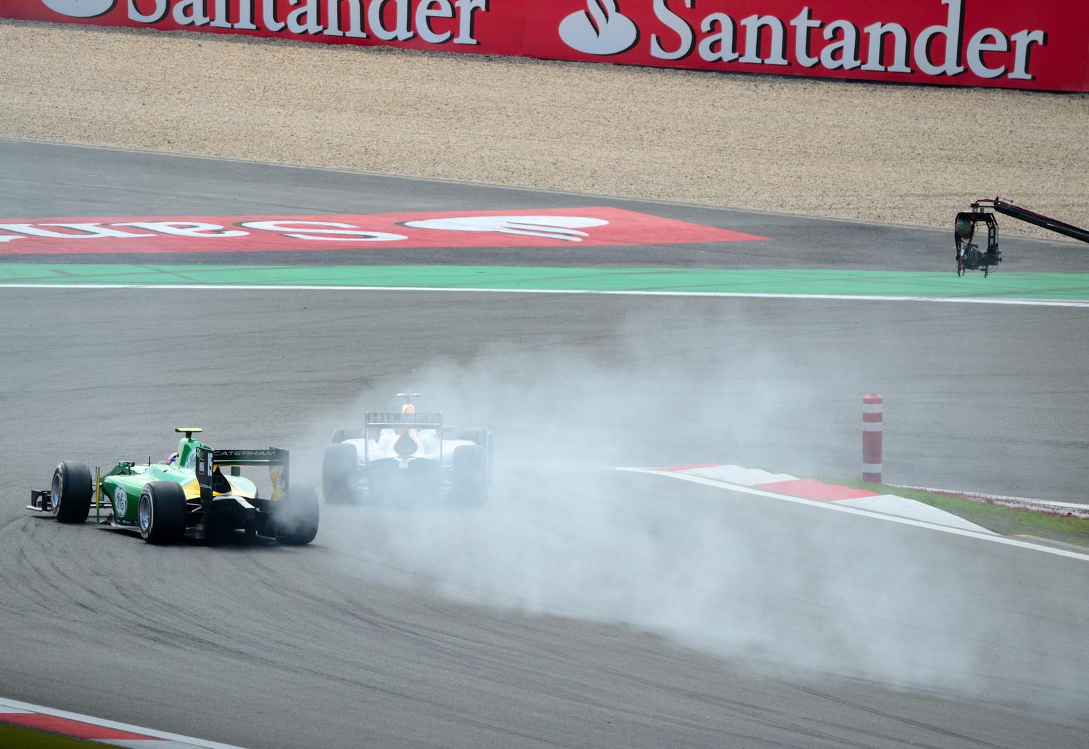Verbremser beim 1. Rennen GP2 Nürburgring 2013