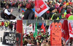 VERDI Warnstreik 26.03.14 Stuttgart Collage4/1 Ü477K