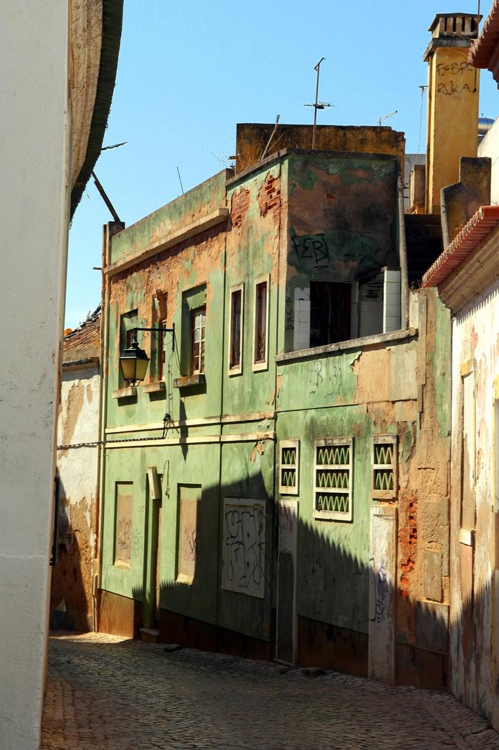Verfallenes Haus in Portimão