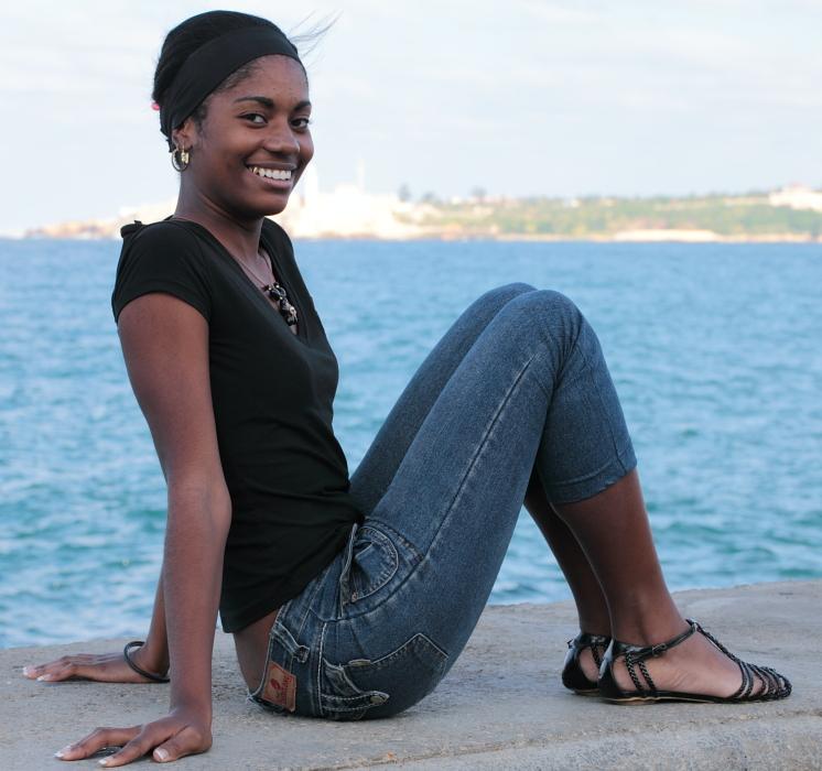 Verführerische Kubanerin * Havanna / Kuba * Foto & Bild
