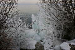 Vergängliche Ice-Art ...