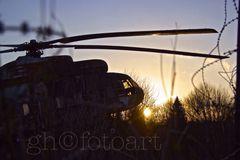 vergessener Hubi im Sonnenuntergang