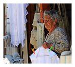 Verkäuferin in Fodele