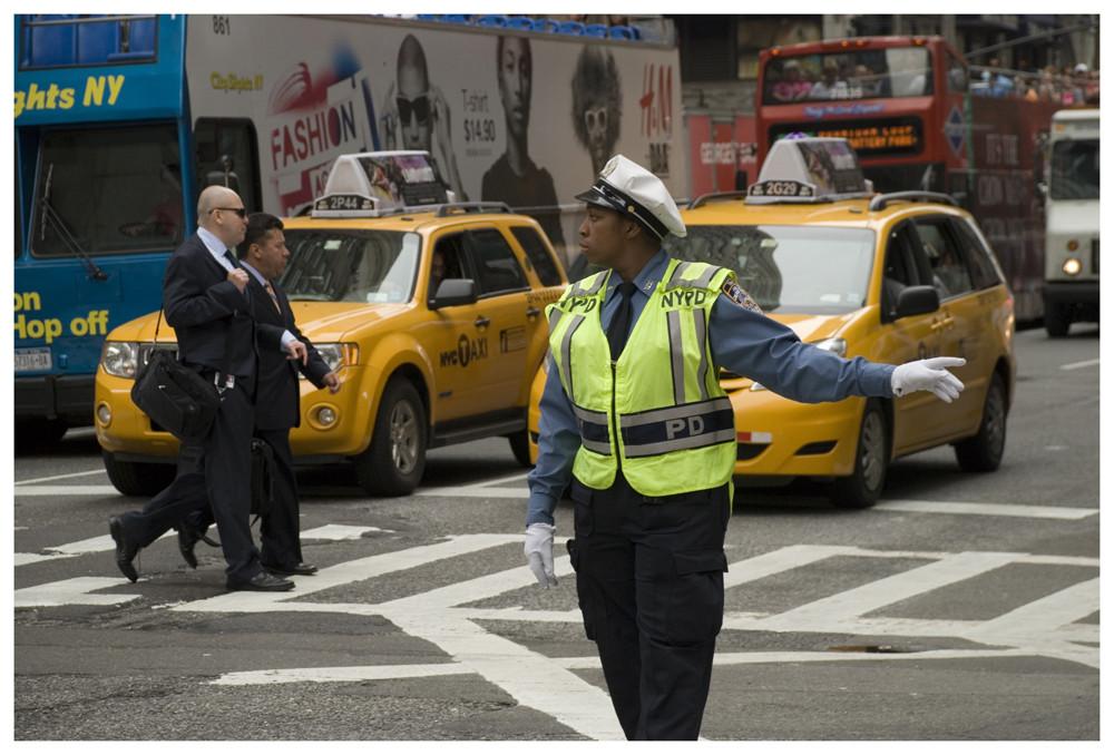 Verkehrspolizei in New York Foto & Bild | north america, united ...