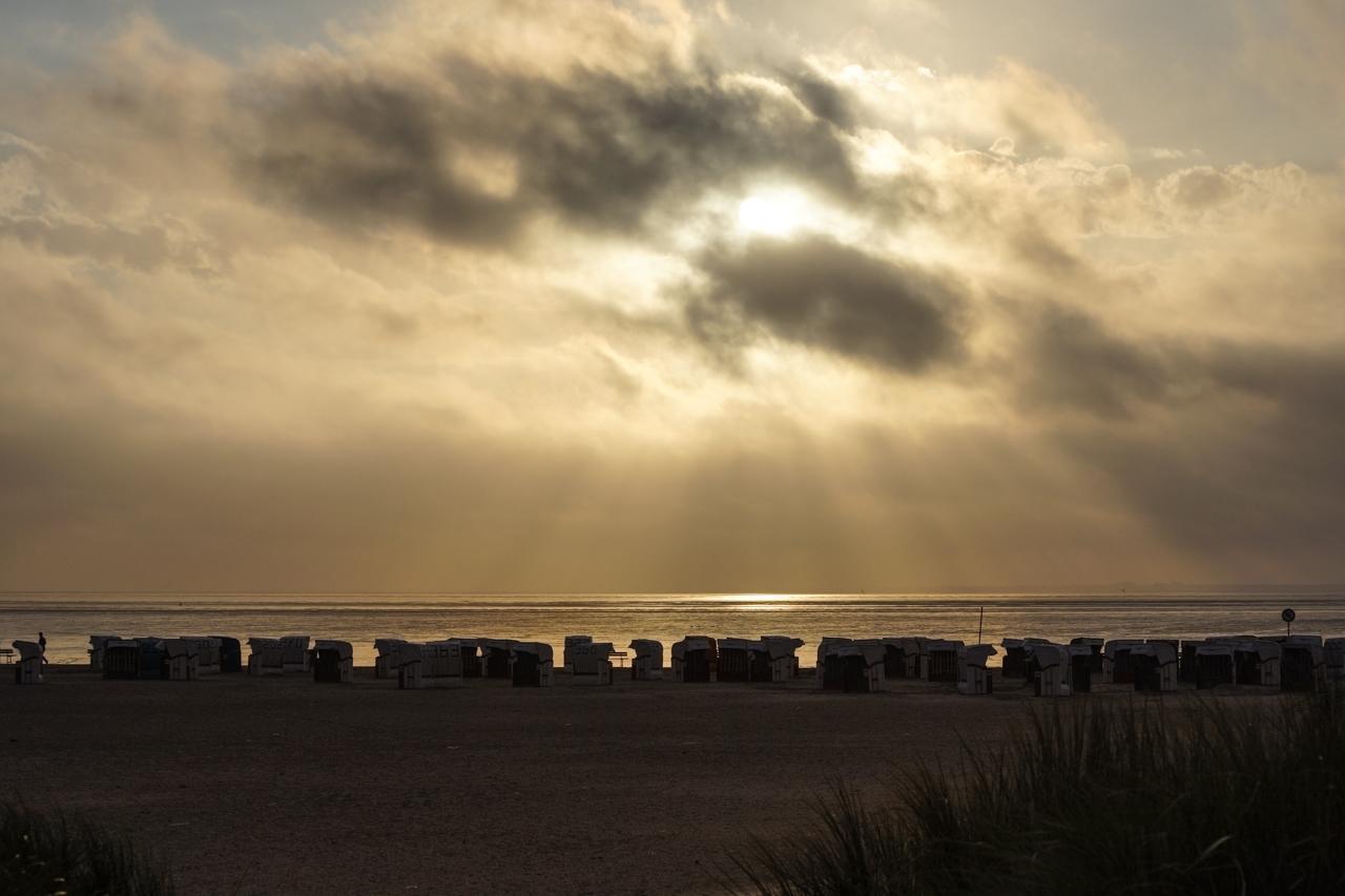 Verlassenene Strandkörbe