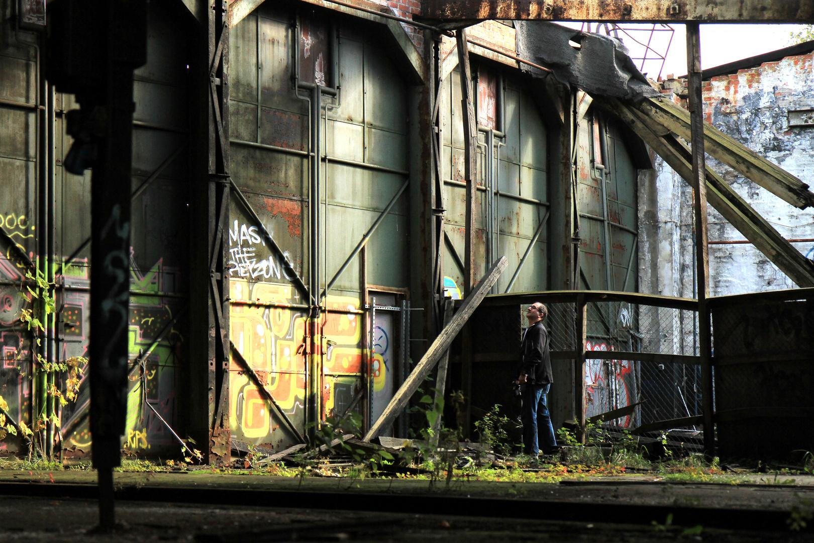 Verlassenes Bahnhofsgelände Graffiti 5