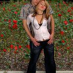 Verliebt im Rosengarten