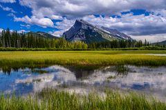 Vermilion Lakes & Mount Rundle, Banff NP, CA