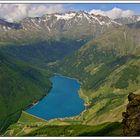 Vernagtstausee im Schnalstal-Blick vom Gipfel der Schröffwand