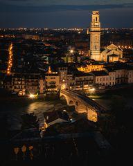 Verona, Italy at night