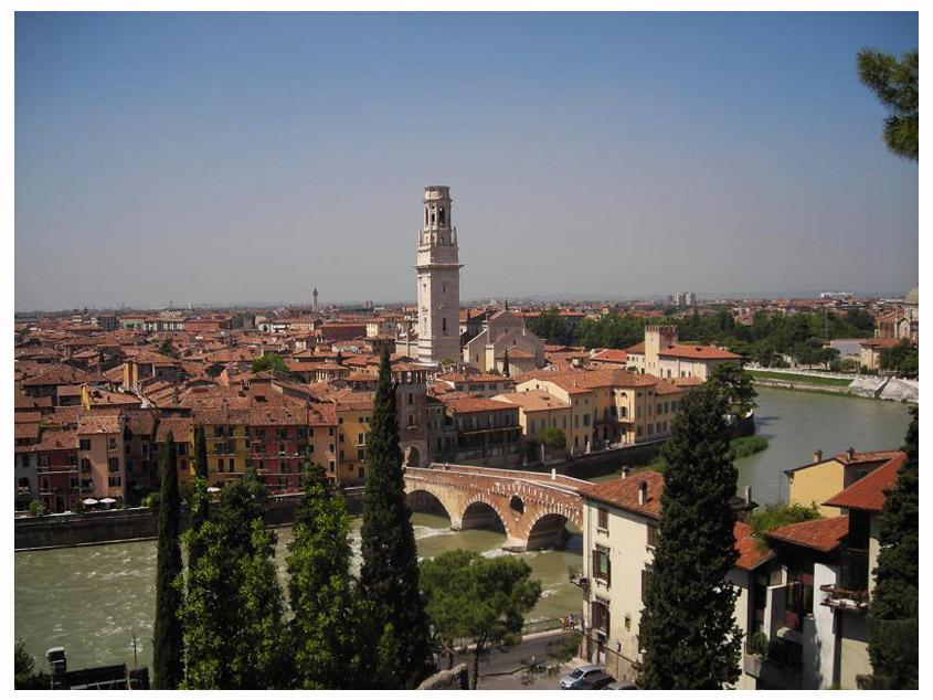 Verona, veduta dal Teatro Romano