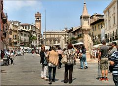 Verona...Piazza delle  Erbe.