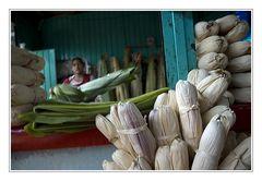 Verpackte Bananenblätter