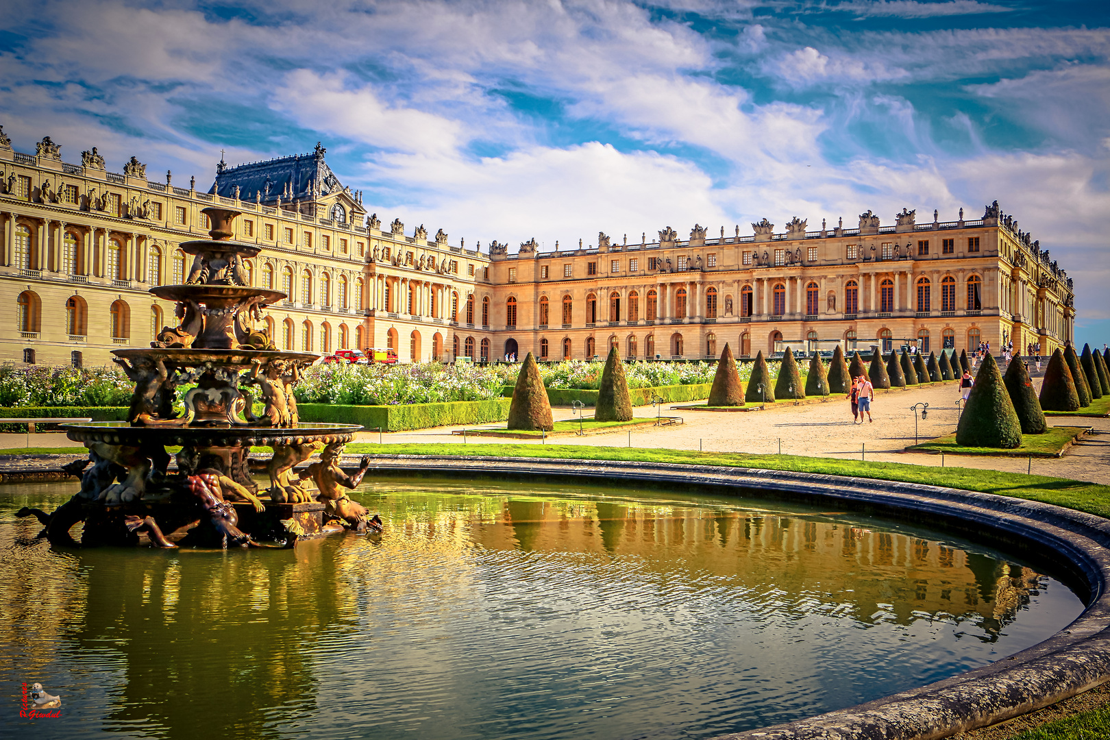 Versailles - Ende eines Garten-Spazierganges