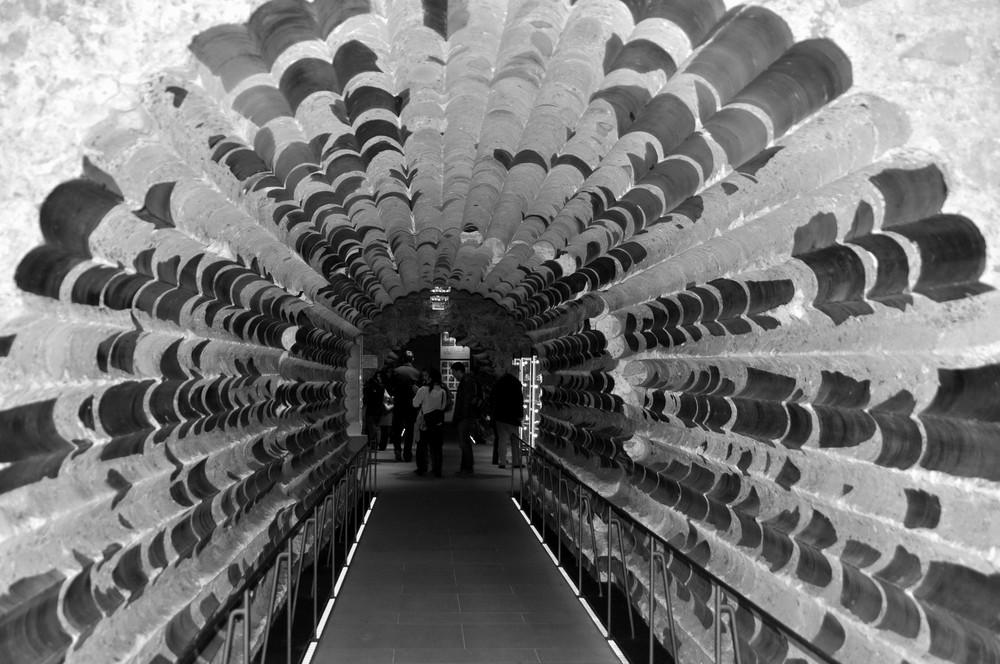 Verschärfte Kernbohrung am Kölner Dom