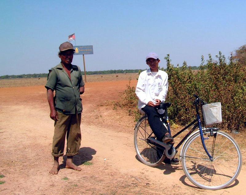 Verschieden Generationen in Cambodia