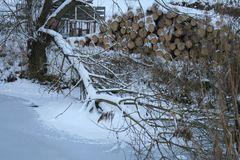Verschneit und zugefroren