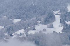 ...verschneite Berge...