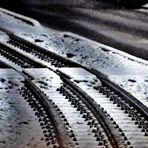 verschneite Gleise