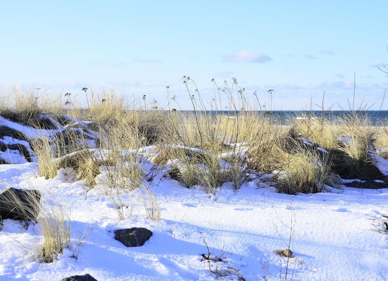 verschneiter Strand